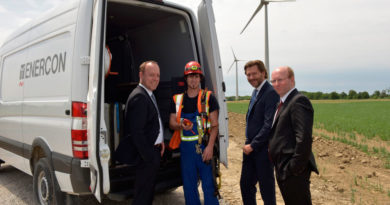 M-B Canada and Enercon reps gather to put  Sprinters to work