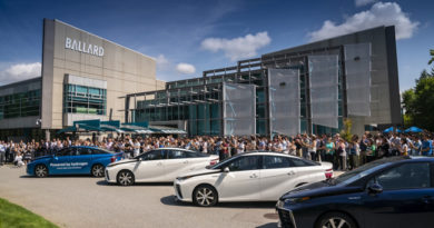 Ballard Power Systems Announces Purchase Of B.C.'S First Fleet Of Hydrogen-Powered Fuel Cell Electric Vehicles