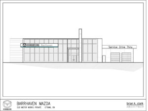 Construction continues on the new facility for Shiv Dilawri's Mazda store.